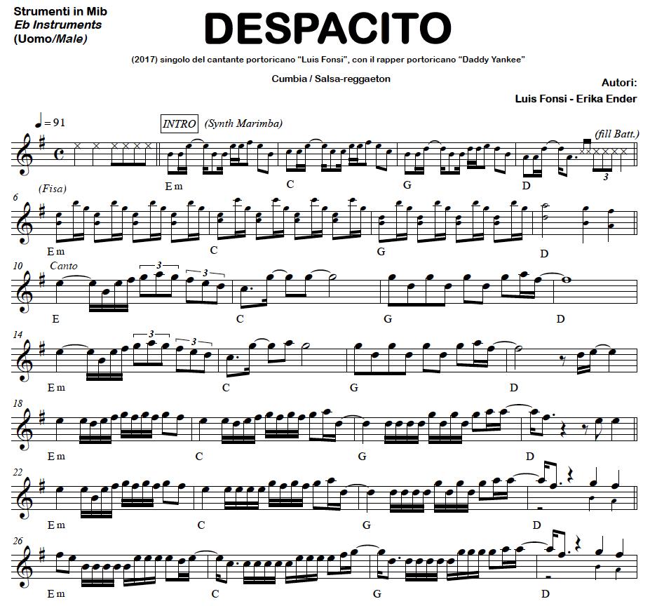 Despacito Chanteur Instrum Cumbia Salsa Reggaeton Basi