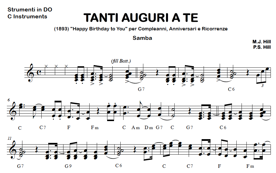 Tanti Auguri A Te Samba Basi Audio Fisarmonica